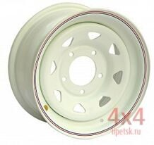Диск OFF-ROAD Wheels 5x139,7 15х7 ET +25 Белый (треуг. мелкий) ЦО98мм.