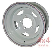 Диск OFF-ROAD WHEELS 15х8 5x139,7 d110 ET -19 (белый, треуг.)