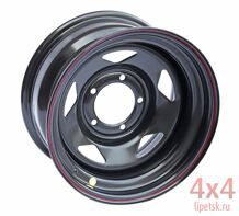 Диск OFF-ROAD Wheels 5x139,7 15х8 ET -19 (чёрный, треуг.)