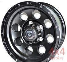 Диск LS Works 5x139,7 15х8 ET-5 D110 LF087 Matt Black Chrome Rivets