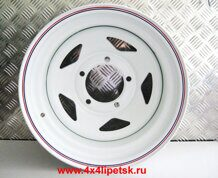Диск OFF-ROAD WHEELS 15х10 5x139,7 d110 ET-44 (Белый, треуг.)