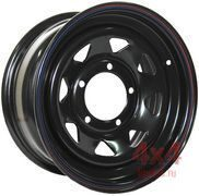 Диск OFF-ROAD Wheels 5x139,7 16х7 ET 0 (Черный, мелк. треуг)