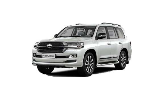 TOYOTA LAND CRUISER 200 белая
